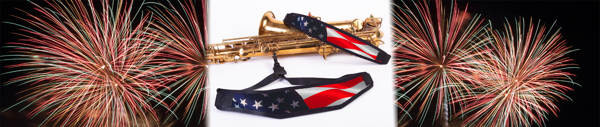 Neotech Limited-Edition American Celebration Straps with Fireworks background