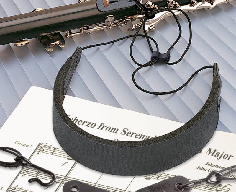 The C.E.O. Comfort Strap fits the Clarinet, English horn and Oboe