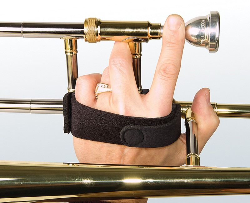 Trombone Grip allows for a full range of movement and a comfortable, yet secure hold on the instrument
